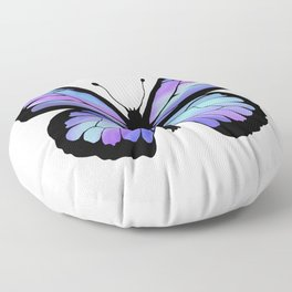 Cool Color Butterfly Floor Pillow