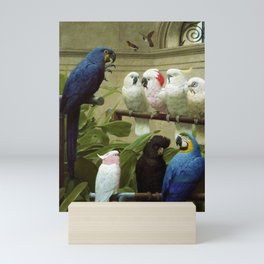 Hyacinth Macaw, Black Cockatoo, Cockatoos, Peach Cockatoo Select Committee by Henry Stacy Marks Mini Art Print