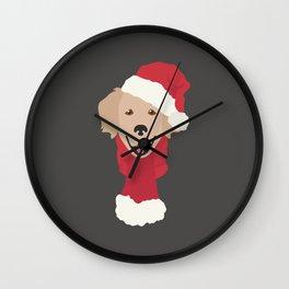 Golden Retriever Christmas Dog Wall Clock