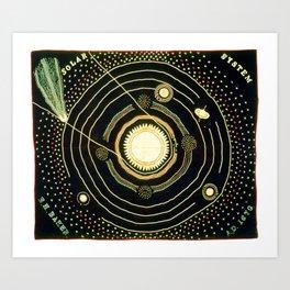 Solar System quilt by Ellen Harding Baker (1886) Art Print