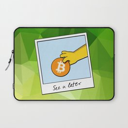 See you later funny Bitcoin Donut on green Laptop Sleeve