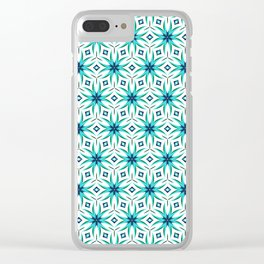 Appealing Teal Clear iPhone Case