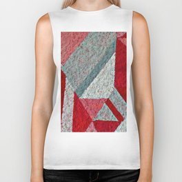 Pink, Red and Grey Biker Tank