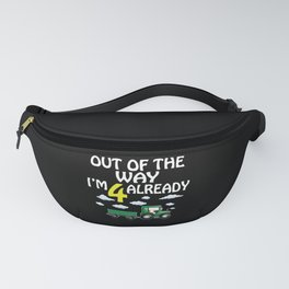 4th Birthday Kids Gift Tractor Fanny Pack