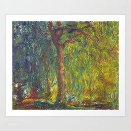 "Claude Monet ""Weeping Willow"" Art Print"