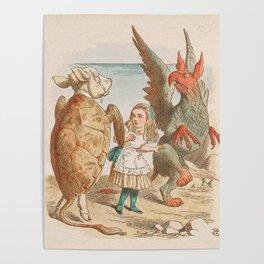 Scene from Alice in Wonderland Poster