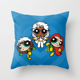 Chemical X-Girls Throw Pillow