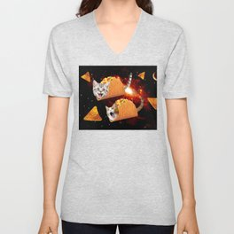 Taco Cats Space Unisex V-Neck