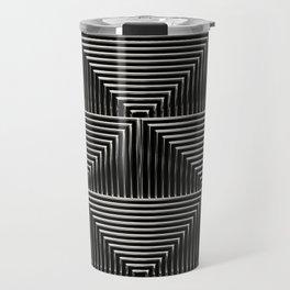 Mesmerizing Squares Steel - Art Deco Pattern Travel Mug
