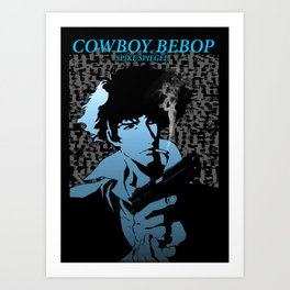 Cowboy Bebop blue spike Art Print