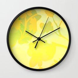 Sassy Sedge - warm colors Wall Clock