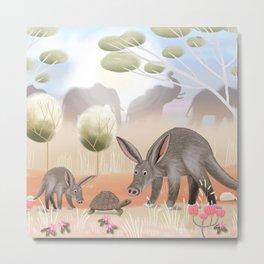Aardvark Metal Print