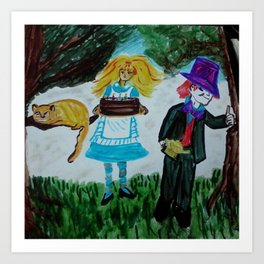 Alice, Happy Birthday Lewis Carroll Art Print