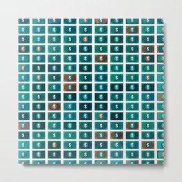 Dollar pattern 7 Metal Print