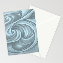 Swirl (Gray Blue) Stationery Cards