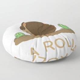 I'm On A Roll - Funny Armadillo Pun Floor Pillow