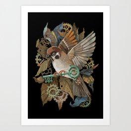 Clockwork Sparrow Art Print