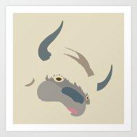 appa Art Prints featuring Cute Appa by Minette Wasserman