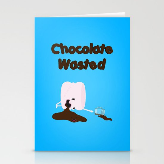 Chocolate Wasted (blue) Stationery Cards