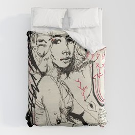 Drawn Attention Duvet Cover