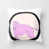 running Throw Pillows featuring Running by Eve-Gittins