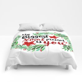 Merry Christmas Xmas Eve Holiday Season Santa Claus Navidad Regalo Present Gift Loved One Comforters