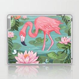 Flamingo and Waterlily Laptop & iPad Skin