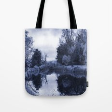 Chinese Bridge at Wrest Park in Blue Tote Bag