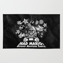 Mad Mario: Beyond Another Castle Rug