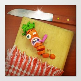 The murder of the carrot Canvas Print