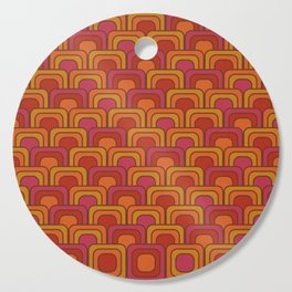 Geometric Retro Pattern Cutting Board