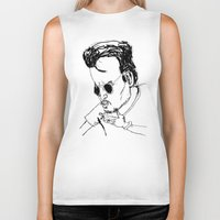 johnny depp Biker Tanks featuring johnny depp by AdrienneD