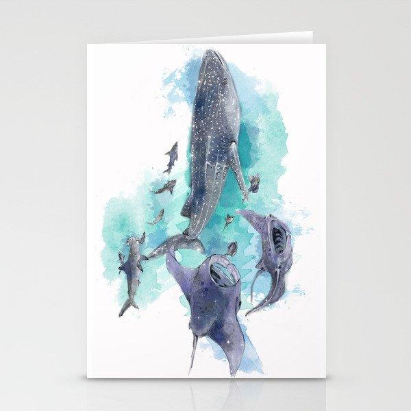 Star Sharks & Rays Stationery Cards