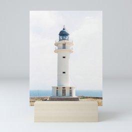 "Travel photography ""Light House""   Modern wall art Ibiza Formentera Spain pastel tones coast Mini Art Print"