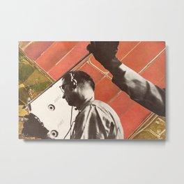 Listening In (Collage) Metal Print