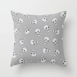 Skull (vector) Throw Pillow