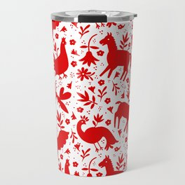 Otomi in red Travel Mug
