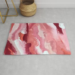 Carnations [2]: abstract | acrylic | watercolor | pink | red | white | wall art | fine art Rug