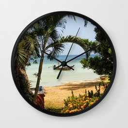 Long Tail Boat in Thailand Wall Clock