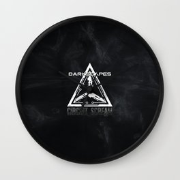 DarkScapes - Circuit Scream Glyph Wall Clock