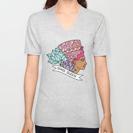 Yas Queen Eyptian Broad City Print Unisex V-Neck