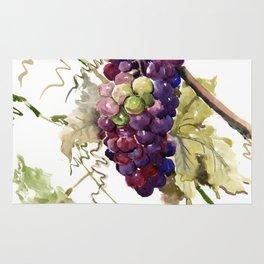 Grapes, California Vineyard Wine Lover design Rug