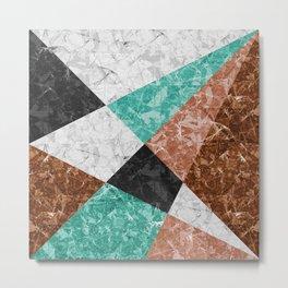 Marble Geometric Background G434 Metal Print