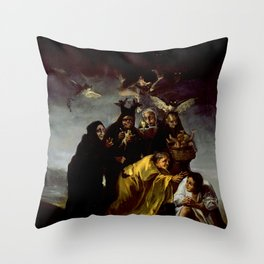 THE WITCHES SPELL - FRANCISCO GO Throw Pillow
