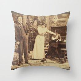 Victorian Stereogram Throw Pillow
