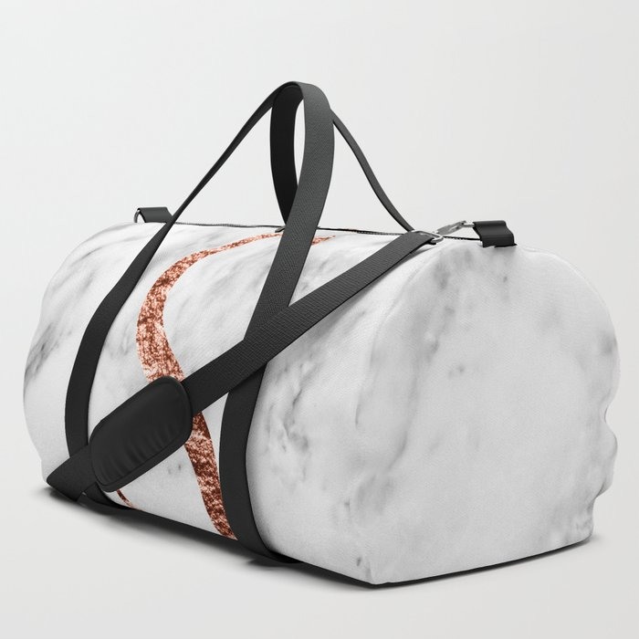 Monogram_rose_gold_marble_S_Duffle_Bag_by_marbleco__SET_OF_3