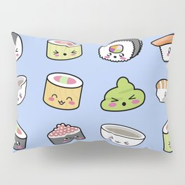 Happy kawaii sushi pattern Pillow Sham