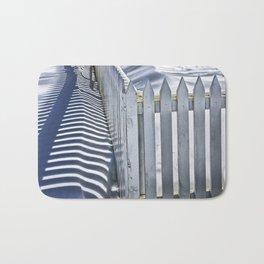 Picket Fence in Winter Bath Mat