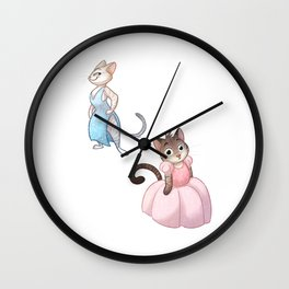 Cats in Dresses Wall Clock