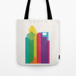 Shapes of Houston. Accurate to scale Tote Bag